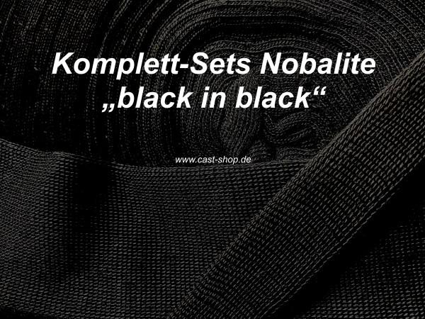 Komplett Sets Nobalite black in black mit schwarzem TG Schlauch →