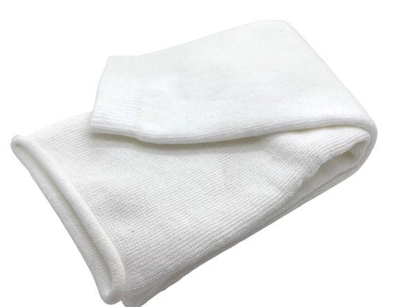 Frottee TG weiß für Oberarm | Unterschenkel Kanten genäht 80 cm Länge